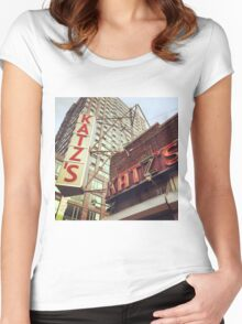 Katz's Deli, Lower East Side, NYC Women's Fitted Scoop T-Shirt