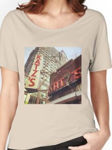Katz's Deli, Lower East Side, NYC Women's Relaxed Fit T-Shirt