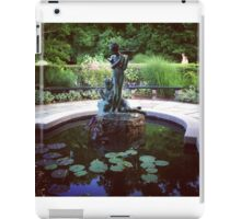 Conservatory Garden Fountain, Harlem iPad Case/Skin
