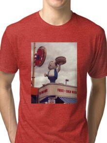 Burger Boy, Coney Island Brooklyn Tri-blend T-Shirt