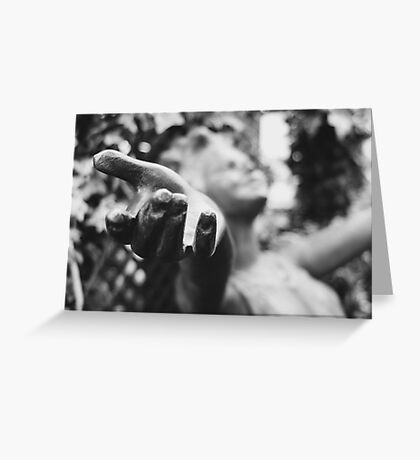 Black and White Let Go Photograph Greeting Card