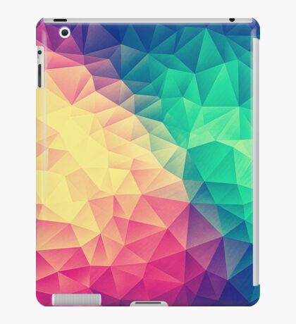 Abstract Polygon Multi Color Cubism Low Poly Triangle Design iPad Case/Skin