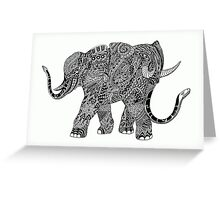 Snakelephant Indian Ink Hand Draw Greeting Card