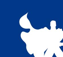 My Superhero 03 Super Blue Minimal poster Sticker