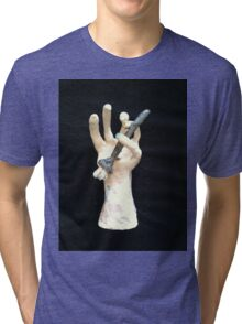 hand and brush Tri-blend T-Shirt