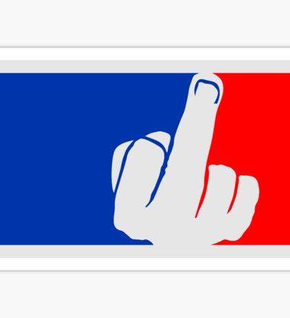 sport blau rot farben stinkefinger zeigen mittelfinger symbol fuck you off logo design cool beleidigung schimpfwort fick dich böse  Sticker