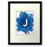 FOR HIM - J Framed Print