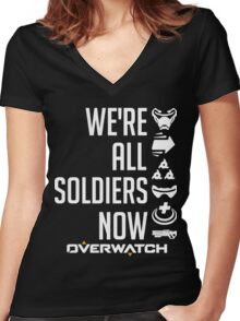 OVERWATCH 76 Women's Fitted V-Neck T-Shirt