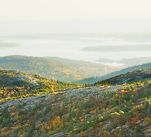 Cadillac Mountain in Fall, Acadia National Park Maine by KWJphotoart