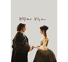 "Outlander - Jamie x Claire ""Blood of my blood..."" Photographic Print"