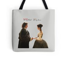 """Outlander - Jamie x Claire """"Blood of my blood..."""" Tote Bag"""