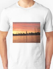 Sunset over NYC Skyline, from Brooklyn Unisex T-Shirt