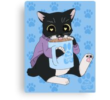 thesweatercats - Coffee Manx Canvas Print