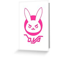 OVERWATCH D VA Greeting Card