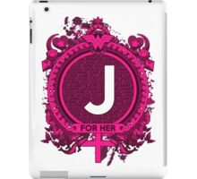 FOR HER - J iPad Case/Skin