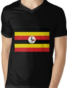 Uganda Mens V-Neck T-Shirt
