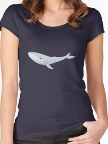The Whale In The Night Women's Fitted Scoop T-Shirt