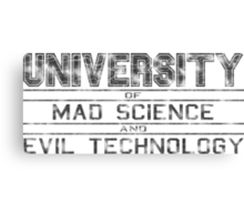 University of Mad Science and Evil Technology - Classic Canvas Print