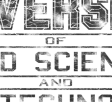 University of Mad Science and Evil Technology - Classic Sticker