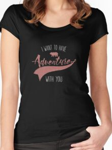 Adventure quote Women's Fitted Scoop T-Shirt