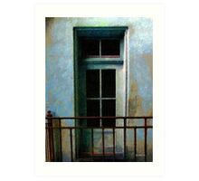 Blue Balcony Art Print