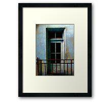 Blue Balcony Framed Print