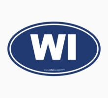 Wisconsin WI Euro Oval BLUE by USAswagg2