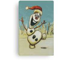 Christmas Olaf from Disney Frozen Canvas Print