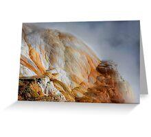Minerva Terrace at Mammoth Hot Springs Yellowstone Greeting Card
