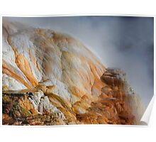 Minerva Terrace at Mammoth Hot Springs Yellowstone Poster
