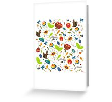 Winter Floral Trois Greeting Card