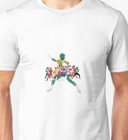 Power Rangers Super Mega Force Legendary Rangers Unisex T-Shirt