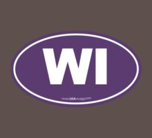 Wisconsin WI Euro Oval PURPLE Kids Clothes