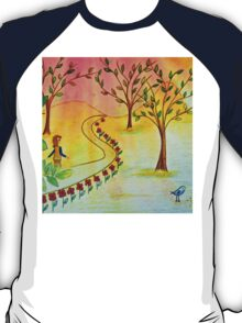 An autumn walk at dusk T-Shirt