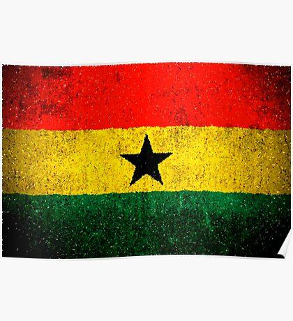 Ghana Natiional Flag Poster