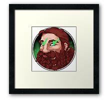 Dwarf Fighter (Buffed) Framed Print