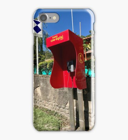 Colombia - Tierradentro - Cauca phone booth iPhone Case/Skin