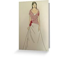 Wedding Dress No 2 Greeting Card