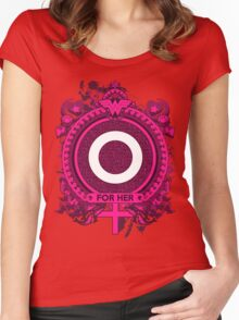 FOR HER - O Women's Fitted Scoop T-Shirt
