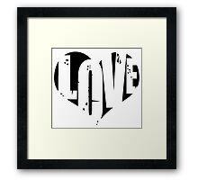 Love in Heart Framed Print