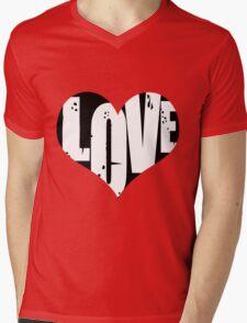 Love in Heart Mens V-Neck T-Shirt