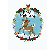 Vintage Holiday Card Photographic Print