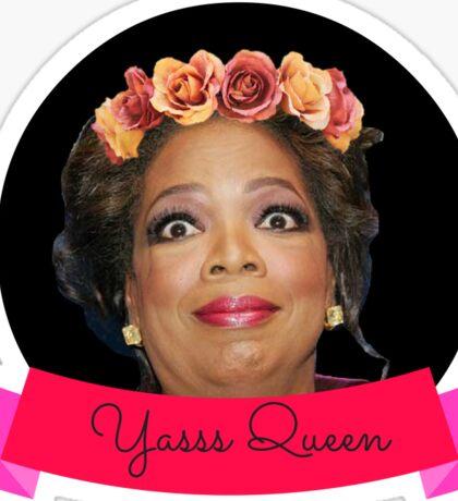 Flower Crown Oprah Sticker