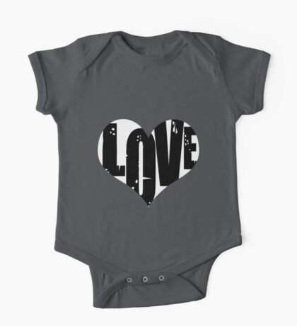 Love in Heart One Piece - Short Sleeve