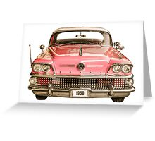 Classic Buick 1958 Century Car Greeting Card