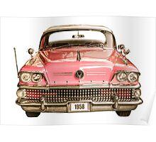 Classic Buick 1958 Century Car Poster