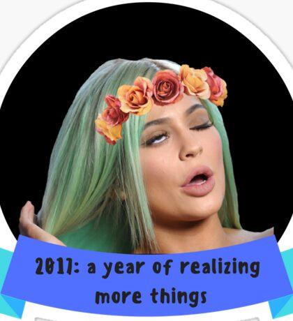 Flower Crown Kylie Jenner Sticker