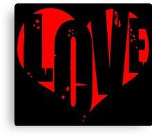 Love in Heart Canvas Print