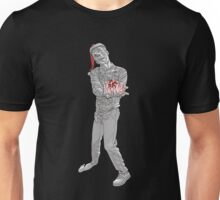Christmas Zombie Black and White  Unisex T-Shirt