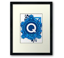 FOR HIM - Q Framed Print